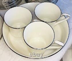 Noritake Sterling Cove 104 Pc China Dinnerware Service For 14 5 Pc Setting + Ext