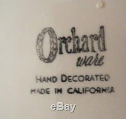 Orchard Ware Made in California Dinnerware Set for 4 20 pieces Mid Century Moder