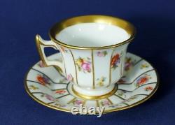 PORCELAIN Coffee Tea Mocha set 12 pieces, Cup and Saucer ROYAL EPIAG HENRIETTE