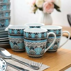 PRE ORDER Turkish 32 Piece Ceramic Porcelain Dinner Dinnerware Set Plate Bowls