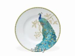 Peacock Garden Porcelain Dinnerware Set 16 Piece Dinner Dishes Service for 4