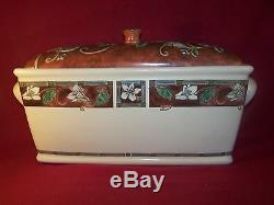 Pfaltzgraff Mission Flower Beautiful Bread Box With Lid 15 1/2 RARE