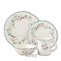 Pfaltzgraff Winterberry 16-Piece Dinnerware Set, Service for 4 Holly Berry Dish