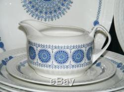 Pontesa Ironstone Spain Granada 42 Pc Dinnerware Set Platter Plate Gravy Bowl +