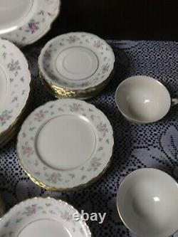 Princess China SWEET BRIAR 51pc Dinnerware Dishes Set Service For 7+