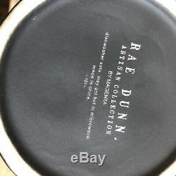 Rae Dunn Black Matte Trick Or Treat Canister White Skeleton Pottery Farmhouse