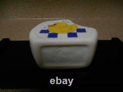 Rare! Fiesta Mini Disc Pitcher White Rubber Ducky Fiestaware Mini Creamer