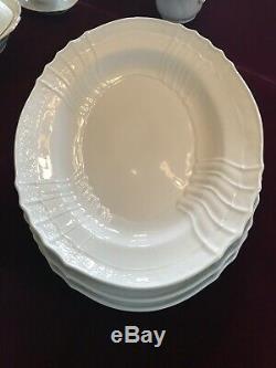 Richard Ginori Italian Vecchio White Porcelain China Dinnerware Set Serves 16 +