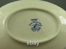 Ridgways Staffordshire B&W Transfer Ware Child's Dinner Service Carlton Pattern