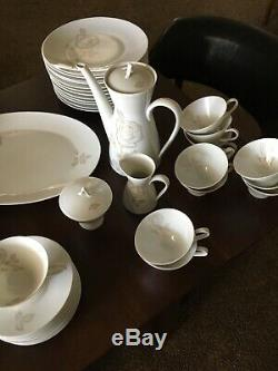 Rosenthal China Classic Rose Full Set of 12 Dinnerware Plus Coffee Set