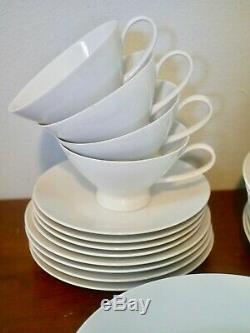 Rosenthal Classic Modern White Dinnerware, 30 pcs, Service for 4