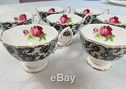 Royal Albert Senorita China Very Rare Full Set of 6 Tea Cup Set + Dinnerware