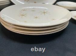 Royal China STAR GLOW Atomic Starburst Lot 18 Pcs Plates Bowls, Platter ++