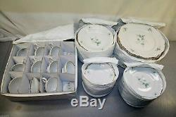 Royal M Bavaria China RMY3 GREEN FLOWERS ON BRANCH 60 PIECES 12 PLACE SETTINGS