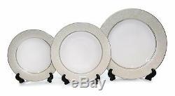 Royalty Porcelain 20pc Florelle Beige Dinnerware Set for 4, Fine Porcelain