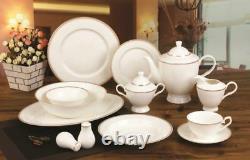 Royalty Porcelain 57pc Hamptons Large Banquet Dinnerware Set, Service for 8