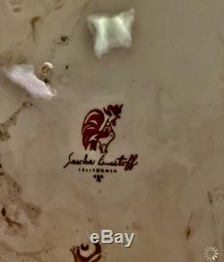 SASCHA BRASTOFF Surf Ballet White Platinum Dinnerware 61pcs Ceramic DS19
