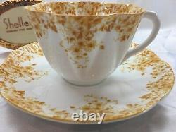 SHELLEY DAINTY YELLOW 051/Y CUP AND SAUCER YELLOW TRIM Perfect RING