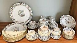 SPODE shanghai dinnerware service for 8 people. Bone china