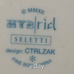 Seletti Ctrlzak Hybrid Sofronia Rim Soup Bowl 10 Half & Half Vintage Designs