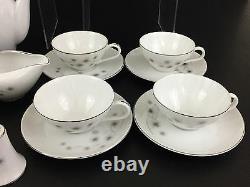 Service for 4, CREATIVE fine china #1014 dinnerware set Japan 1960's Starburst