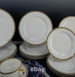 Service for Four -8 Pieces Haviland Limoges Schleiger 567 Dinnerware