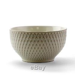 Set Dinnerware 16 Pc Dishes Plate Mug Modern Dinner Service Stoneware White New