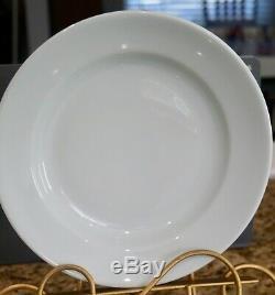 Set Of 7 Apilco France White Rimmed 9-7/8 Pasta Soup Bowls
