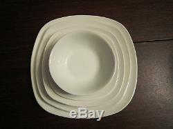 Set Of12 White Porcelain Heavy Square Dinnerware Plates By Home Essentials