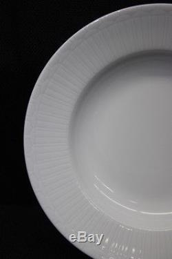 Set of 8 Apilco White Porcelain EDWARDIAN WINDOWS 9 Rim Soup Bowls, France