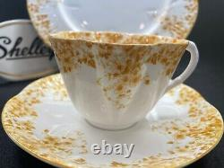Shelley Dainty Yellow 51/y Cup, Saucer And 8 Plate Yellow Trim Ring