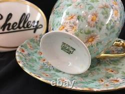 Shelley Marguerite Chintz Ripon Shape Cup And Saucer #13694 Gold Trim