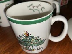 Spode Christmas Tree 16-Piece Dinnerware Set with Lg/Sm Plates & Bowls & Mugs