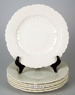 Spode Jewel Breakfast Plates Set of 6 Vintage Embossed Dinnerware England