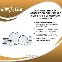Star Trek The Next Generation Dinnerware Sets 16-Piece Ceramic Dinner Set