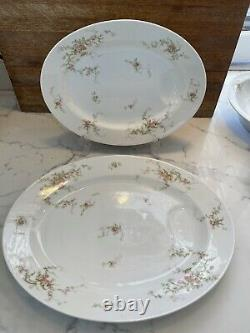 THEODORE HAVILAND LIMOGES FRANCE Pink Roses Withgold 38 pieces