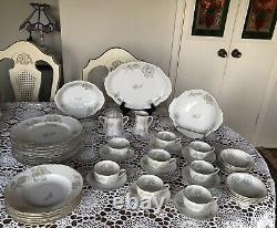 THOMAS GERMANY (1925) ROSENTHAL DINNERWARE SET- pattern 7117-SCALLOPED EDGES