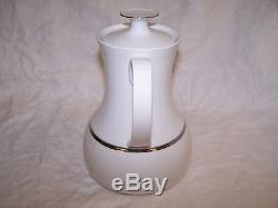 THOMAS Germany MEDAILLON CHINA Tea COFFEE Serving PLATINUM WIDE BAND Pot with Lid