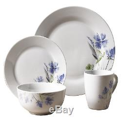 Tabletops Gallery Wildflower 32-Piece Dinnerware Set Service for 8 NEW