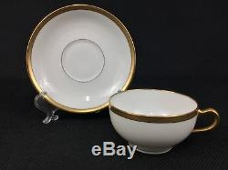 Theodore Haviland Limoges White Gold 40-Piece Dinnerware Set for EIGHT (8)