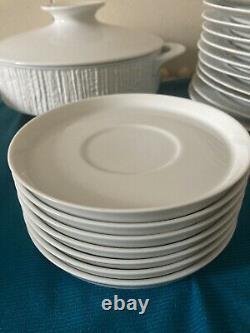 Thomas Germany Arcta White Lot Dinnerware China Mid Century Discontinued 41 Pcs