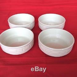USA 12 PC IVORY Off White Dinnerware Dinner Plate Stack Bowl Mug Longaberger