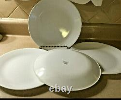 VINTAGE 40pcs Service for 8 Corelle WINTER FROST WHITE Dinnerware Plates Bowls