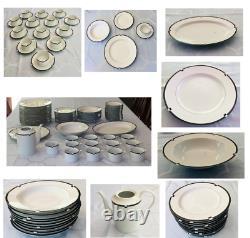 VINTAGE MIKASA Fine China Japan MIDNIGHT L5542 Dinnerware 70-Piece Set