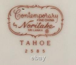 VINTAGE Noritake Contemporary Dinnerware 51-Piece Set TAHOE #2585 Sri Lanka