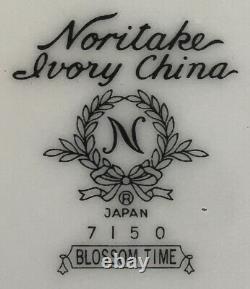 VINTAGE Noritake Ivory China Dinnerware BLOSSOM TIME #7150 JAPAN 32- Piece Set