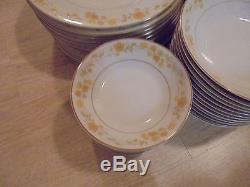 VINTAGE Set of 86 Contemporary Noritake CHORUS 2681 Fine China DInnerware Set