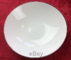 VTG Noritake Fremont China Dinnerware Set 95 pc Service For 12 White Silver Trim