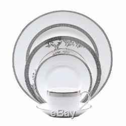 Vera Wang Vera Lace Platinum 44 pc Bone China Dinnerware Set for 8 New