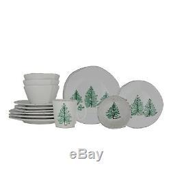 Vietri Lastra Holiday Exclusive 16-Pc Dinnerware Set with Mugs